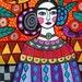 Mexican Folk art Art Print Poster by Heather Galler Frida Kahlo