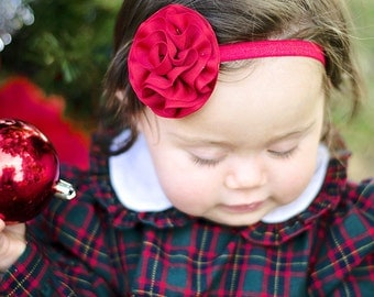 Red Flower Headband. Red Baby Headband. Fourth of July. Baby Girls Hair Accessories. Baby Hair Accessories. Baby Girls