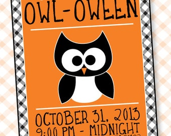 Halloween PRINTABLE Invitation OWL-oween Party Collection by Love The Day