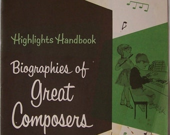 Vintage Highlights Handbook For Children Great Composers Biographies