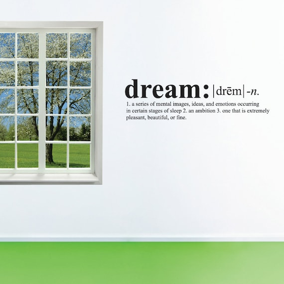 Wall Decals Wall Words Art Wall Stickers Vinyl Lettering - Dream