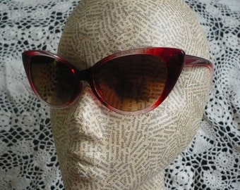 Ombre Cat Eye Sunglasses Rockabilly 1950's Inspired