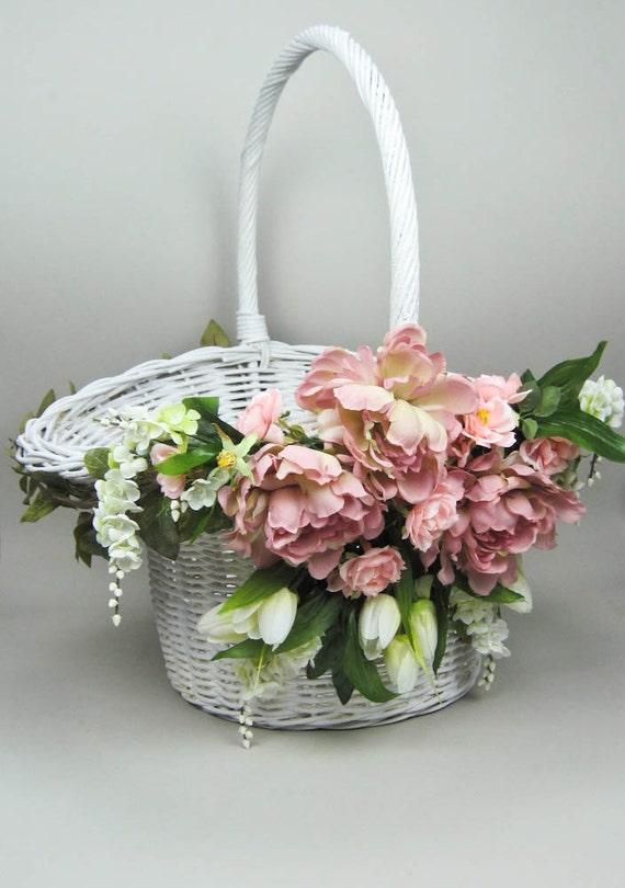 Items similar to oversize wedding basket flower girl