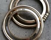 Vintage alarm clock Case parts -- rings -- set of 2 -- D18