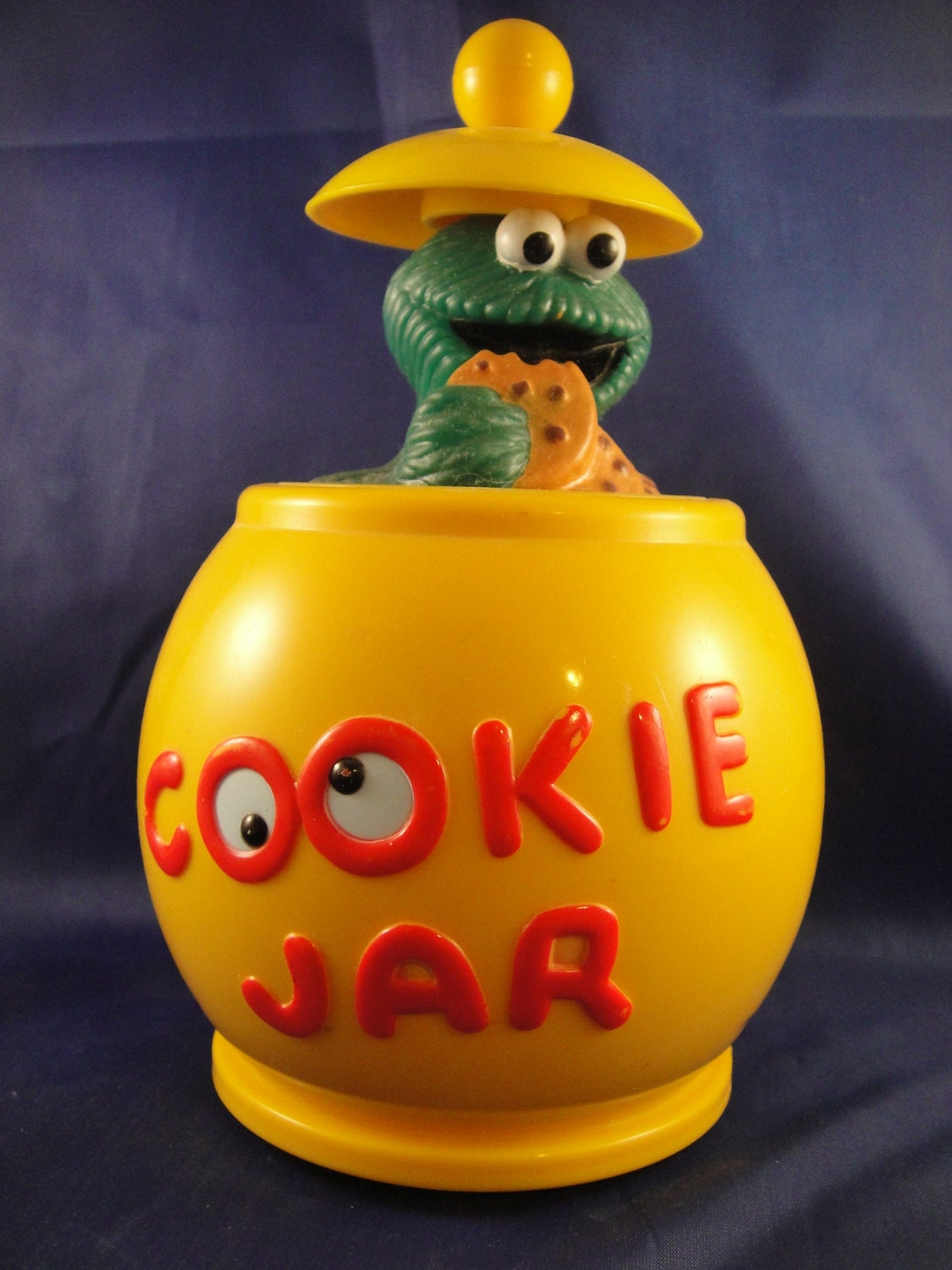 Cookie Monster Illco Toy Cookie Jar By Wishingwellsglass