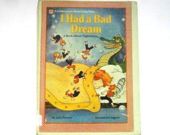 I Had a Bad Dream, A Book About Nightmares,  a Vintage Children's Book
