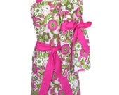 Mommy and Me Retro Aprons,  Mother Daughter Apron Set,  Floral Print with Pink Ties, Mother's Day Apron, aprons for women children toddlers