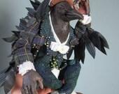 Anthro Crow Art Doll