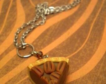 Pecan Pie Necklace