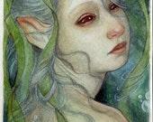 "Underwater Creature....Original 5"" x 7"" Watercolor Illustration"