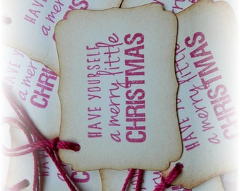 Merry Little Christmas Gift / Hang Tags (8)