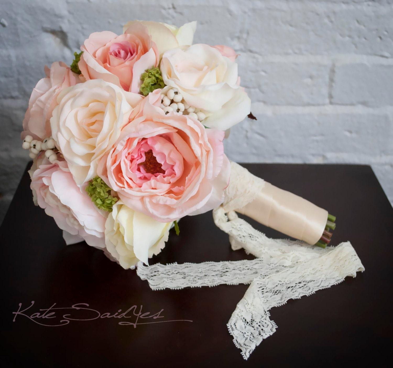 Ortensie Rosa Cipria : Rosa cipria e avorio rose bouquet da sposa