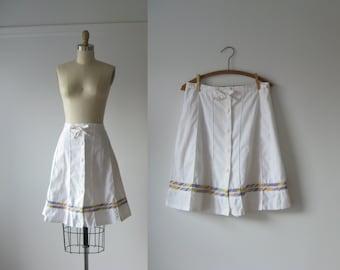 vintage 1970s tie-front skirt
