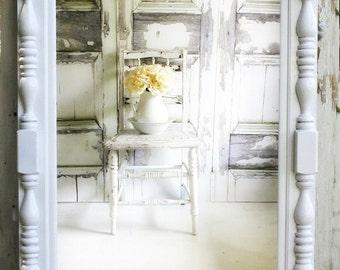 C O T T A G E  Chic White Mirror Bedroom Dressing Mirror Nursery