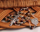 Come Holy Spirit Rosary, Red Creek Jasper and Red Tiger Eye