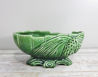 Green Pinecone Planter