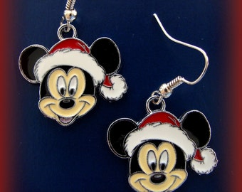 MICKEY MOUSE EARRINGS Jewelry - Colorful Enamel Holiday Disneys Mickey