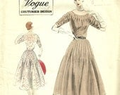 Vintage Vogue Couturier Designer Dress Pattern, Vogue 745 Size 12, Bust 30