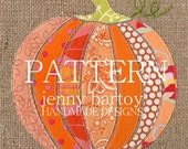 PATTERN Pumpkin Burlap Art  (PDF)