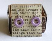 Lavender Mini Crochet Hoop Dangle Earrings