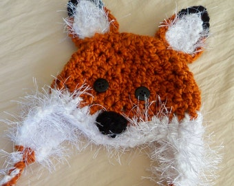 Fox Baby Hats - Red Fox Hat - Baby Fox Hat - Baby Hat - Halloween Costume - Baby Costume Hat --by JoJosBootique