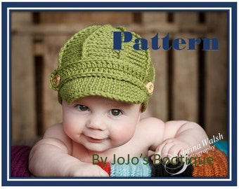 Free Knitting Pattern Baby Newsboy Hat : Popular items for newsboy hat pdf on Etsy