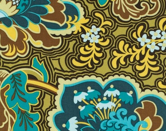 Amy Butler BELLE - Gothic Rose in Turquoise AB107 - Rowan Westminster Fabric - 1 Yard