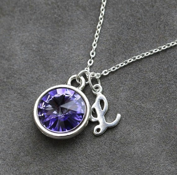 tanzanite necklace december birthstone jewelry custom letter. Black Bedroom Furniture Sets. Home Design Ideas