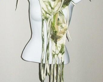 SALE Nuno Felted  Scarf, Neck piece, Collar Warmer  OOAK, Art to wear Hand Made