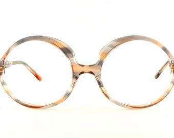 Vintage Deadstock 70's Oversized Round Eyeglass Frames France - FREE Domestic Shipping