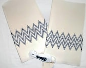 Kitchen Towel Gift Set Chevron Blue Swedish Weaving