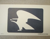 8 x 5 United States Post Office Flash Card - Original 1973 Sign and Symbol Communication - Milton Bradley