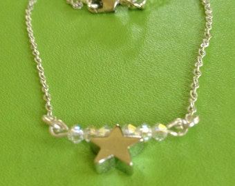 Bridal Sparkle Star Necklace