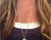 Silver Dipped Kyanite Blade Necklace