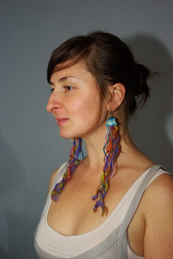 3d jellyfish earrings RESERVED FOR RAMONA