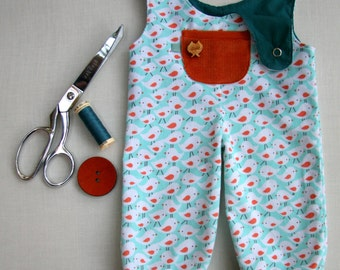 Doll Overalls - PDF Sewing Pattern and Tutorial by Petit Gosset - 18-20""