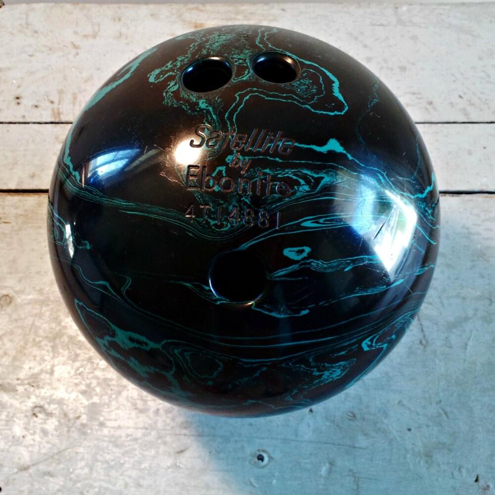 RESERVED Vintage Bowling Ball Satellite By Ebonite Black
