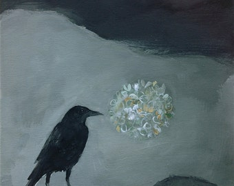 The hopeful crow, painting