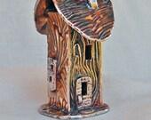 House Sculpture Pendant Silver OOAK Handmade