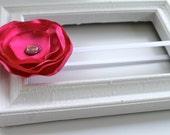 small hot pink silk flower headband newborn-toddler-child-teen-adult