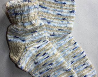 27 cm /// 10,6 inches Hand Knitted Socks, Slipper Socks - Christmas Gift - Men gift - US Men 9 /// US Women 10,5 /// EU 43