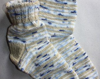 27 cm /// 10,6 inches Hand Knitted Socks, Slipper Socks - Christmas Gift - Men gift - US Men 9 /// US Women 10,5 /// EU 43