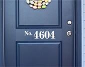 Custom House Number Vinyl Door Decal - Front Door Decals, Home Office Decorations, Custom House Number Vinyl Decal, Vinyl Numbers 7.3-20x3.8