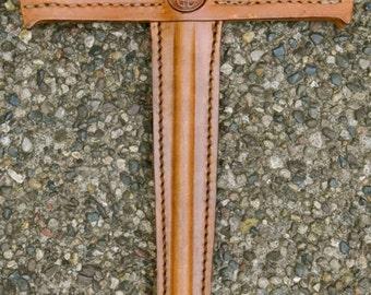 Sword w/ CELTIC KNOT Emblem - Handmade Leather