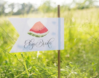 Watermelon Picnic Collection: Printable Flag