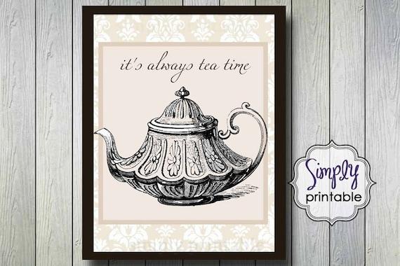 Tea Time 8x10 Digital Wall Print (Digital File)