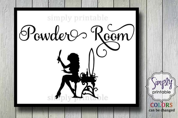 Bathroom Powder Room 8x10 Wall Print (Digital File)