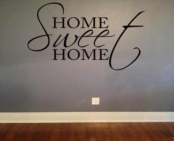 home sweet home vinyl lettering wall words wall decal home With home sweet home vinyl lettering