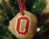 "Ohio State University Buckeyes ""Block O"" Ornament"