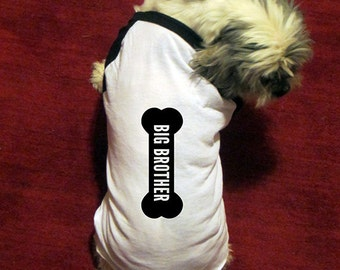 Dog Shirt - Big Brother Dog - Cute Dog Tshirt - Dog Costume - Pet Gift - Clothing - Accessory - Long Sleeved - Puppy - Gift Friendly